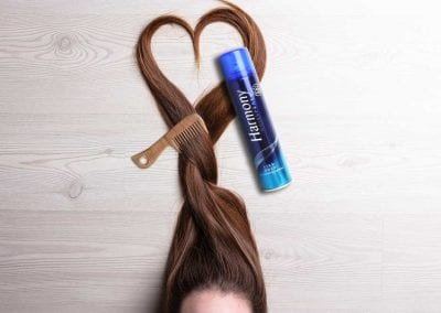 Harmony Firm Hold on Brown Heart-Shaped Hair