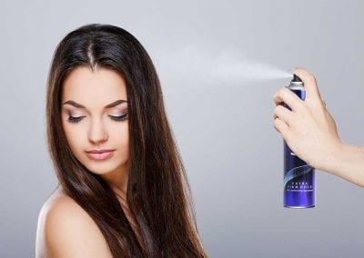 Harmony Extra Firm Hold Hairspray Being Sprayed