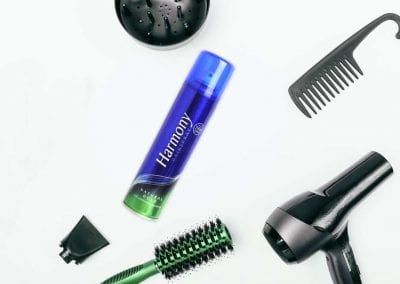 Harmony Natural Hold Surrounded by Hair Styling Tools