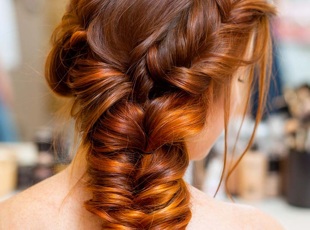 Side Profile of Women with Braided Hair