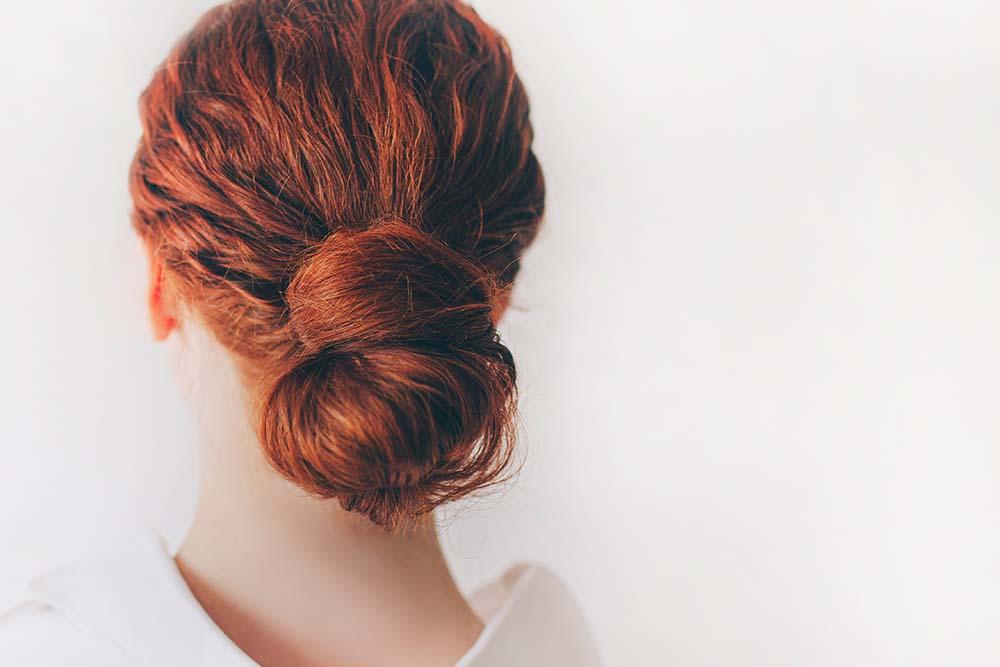 Closeup of Bun Hairstyle